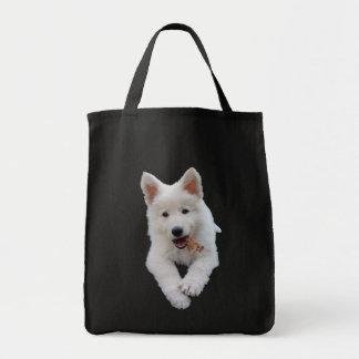 Het witte puppy van de Herder Draagtas