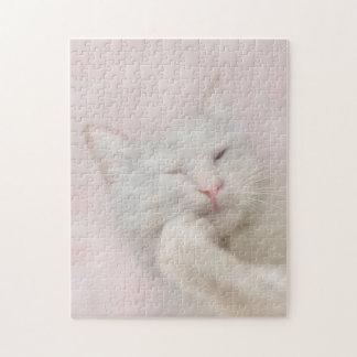 Het witte Raadsel van de Kat Puzzel