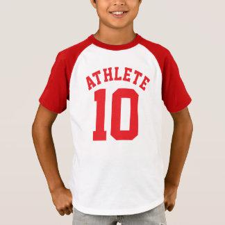 Het witte & Rode Kinder Ontwerp van Jersey van de T Shirt