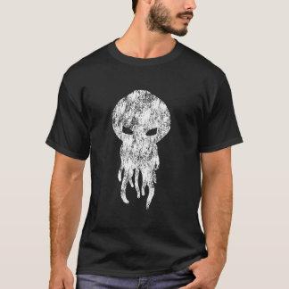 Het Witte Silhouet van Cthulhu T Shirt