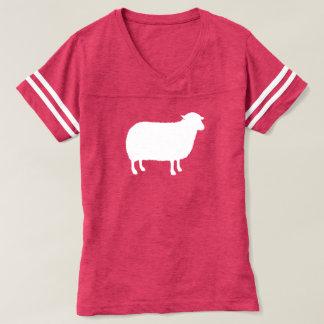Het witte Silhouet van Schapen T Shirts