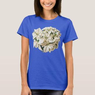 Het witte T-shirt van Poinsettia