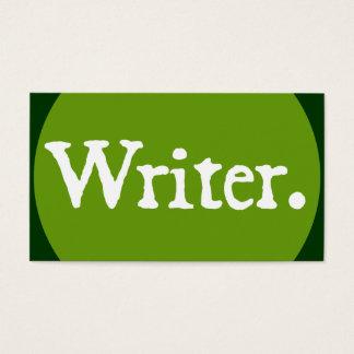 Het Witte Van letters voorzien van de schrijver Visitekaartjes