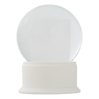 Het witte Wereldbol van de Sneeuw van het Onyx Sneeuwbol