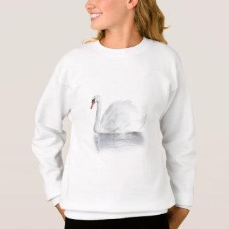 Het witte Witte Sweatshirt van de Zwaan