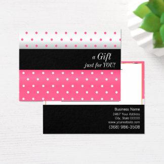 Het witte, Zwarte en Roze Certificaat van de Gift Visitekaartjes