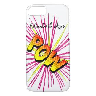 Het woord POW van de klanknabootsing het denken iPhone 7 Hoesje