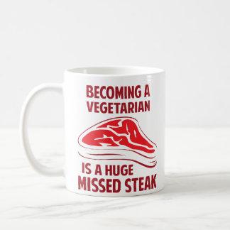 Het worden een Vegetariër is een Reusachtig Gemist Koffiemok