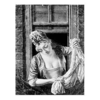 Het wringen zich van de vrouw was briefkaart