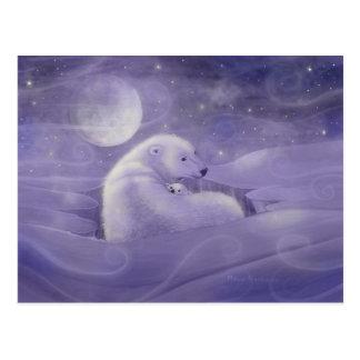 Het zachte Briefkaart van de Ijsbeer van de Winter