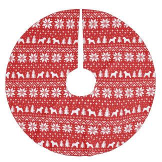Het zachte Met een laag bedekte Wheaten Patroon Kerstboom Rok