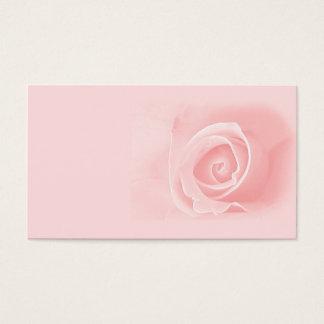 Het zachte roze nam toe visitekaartjes