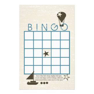 Het zachte Spel van de Douche van Bingo van Zeilen Briefpapier