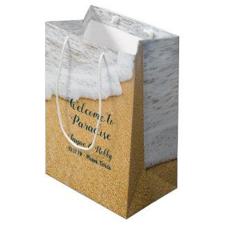 Het zand n surf de Welkome Zak van het Document Medium Cadeauzakje