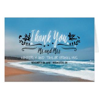 Het zandige Huwelijk van het Strand dankt u Kaart