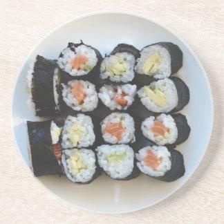 Het zandsteenonderzetter van sushi zandsteen onderzetter