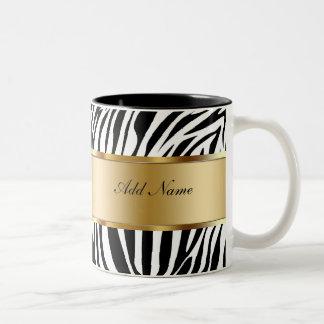 Het Zebra van de Mokken van de Koffie van het mono