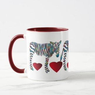 Het Zebra van de regenboog Mok