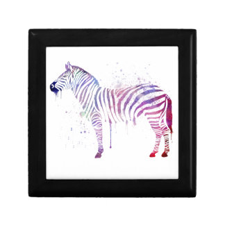 Het Zebra van de waterverf Decoratiedoosje