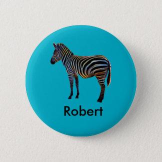 Het Zebra van het neon Ronde Button 5,7 Cm