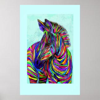 het zebra van het pop-artbaby poster