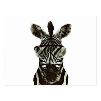 Het Zebra van Hipster Briefkaart