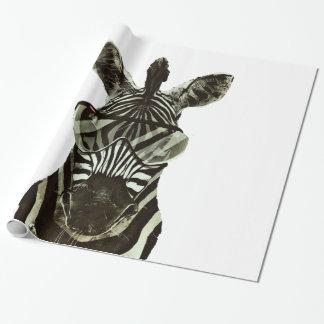 Het Zebra van Hipster Inpakpapier