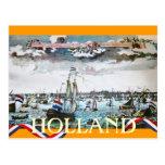 Het Zee die van Holland verscheept Varend Briefkaa Wenskaarten