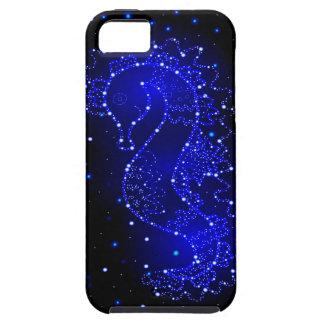 het zeepaardje zwemt in lichten tough iPhone 5 hoesje