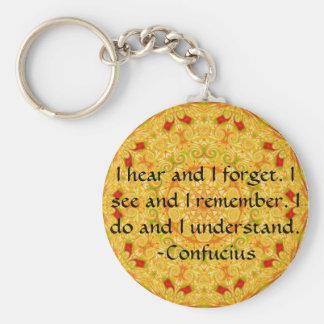 Het zeer Wijze Citaat van Confucius Basic Ronde Button Sleutelhanger
