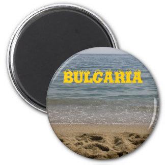 Het zeestrand van Bulgarije Ronde Magneet 5,7 Cm