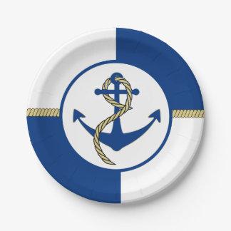 Het zeevaart Anker van de Boot Themed Papieren Bordje