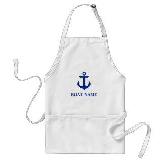 Het zeevaart Anker van de Naam van de Boot Standaard Schort