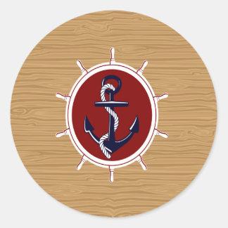 Het zeevaart Anker van de Wielen van Schepen op Ronde Sticker