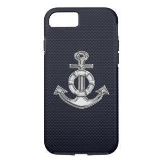Het zeevaart Anker van het Chroom op de Druk van iPhone 7 Hoesje