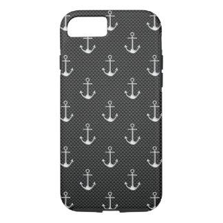 Het zeevaart Anker van het Chroom op het Decor van iPhone 7 Hoesje