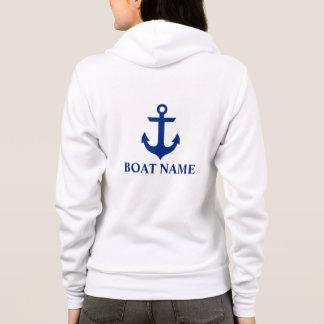 Het zeevaart Anker Wit W Hoodie van de Naam van de