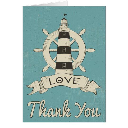 Het zeevaart Blauw dankt u het Anker van de Notitiekaart