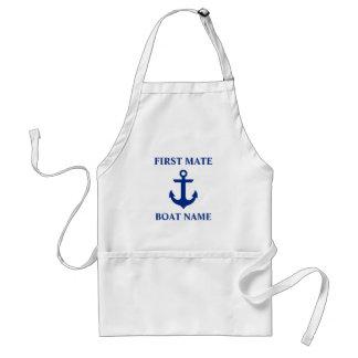 Het zeevaart Eerste Anker van de Naam van de Boot Standaard Schort