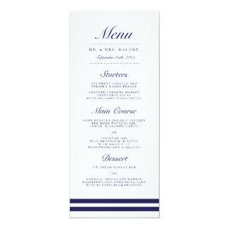 Het zeevaart Menu van het Diner van het Huwelijk 10,2x23,5 Uitnodiging Kaart