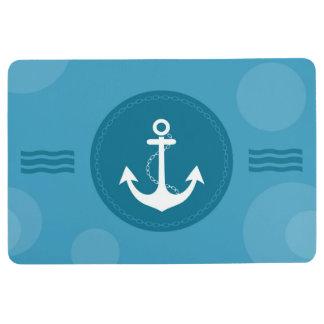 Het Zeevaart Moderne Blauw van het anker Vloermat