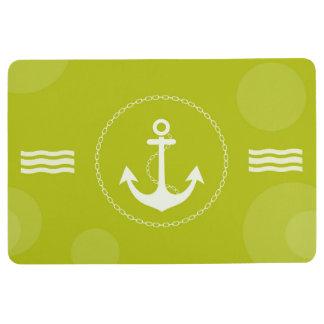 Het Zeevaart Moderne Groene Limoen van het anker Vloermat