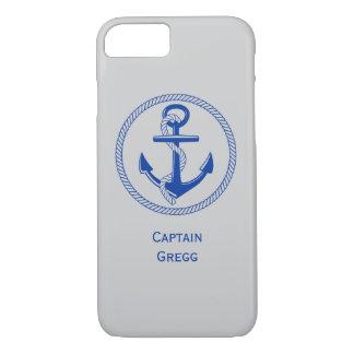 Het zeevaart Monogram van de Naam van de Kleur van iPhone 7 Hoesje