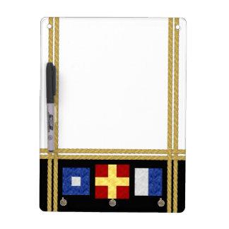 Het zeevaart Monogram van de Vlag van het Signaal Whiteboards