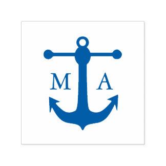 Het zeevaart Monogram van het Anker Zelfinktende Stempel