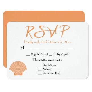 Het zeevaart Oranje Huwelijk van het Strand van de 8,9x12,7 Uitnodiging Kaart