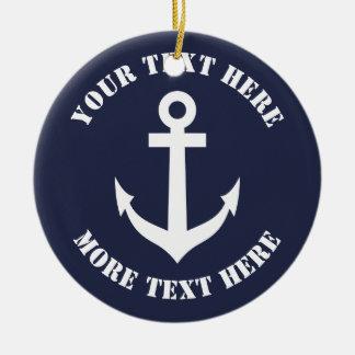 Het zeevaart ornament van ankerKerstmis voor