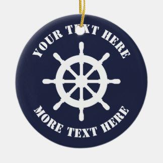 Het zeevaart ornament van Kerstmis van het