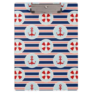 Het zeevaart Patroon van Strepen en van het Stip Klembord