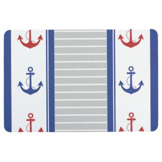 Het Zeevaart Trendy Patroon van het anker Vloermat